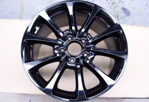 Powder Coating Rims - Black Gloss