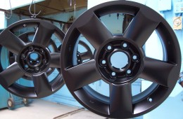 Powder Coating Rims – Matte Black