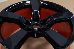 Powder Coating Black & Orange Rim