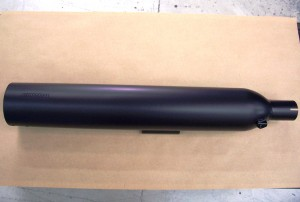 Black Ceramic Coating on Cobra Motorcycle Muffler